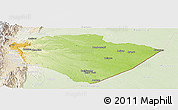 Physical Panoramic Map of Pastaza, lighten