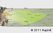 Physical Panoramic Map of Pastaza, semi-desaturated