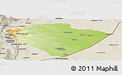 Physical Panoramic Map of Pastaza, shaded relief outside