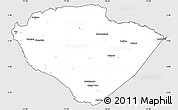 Silver Style Simple Map of Pastaza, cropped outside
