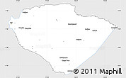 Silver Style Simple Map of Pastaza, single color outside