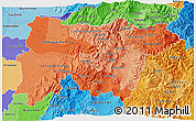 Political Shades 3D Map of Pichincha
