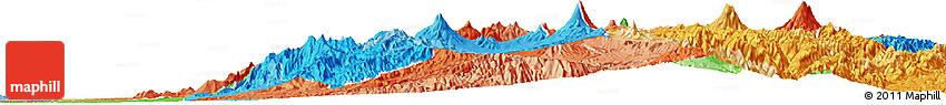 Political Shades Horizon Map of Pichincha