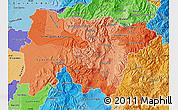 Political Shades Map of Pichincha
