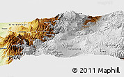Physical Panoramic Map of Mejia
