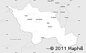 Silver Style Simple Map of Mejia