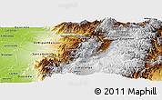 Physical Panoramic Map of Pichincha
