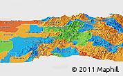 Political Panoramic Map of Pichincha