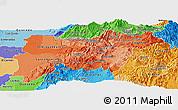 Political Shades Panoramic Map of Pichincha