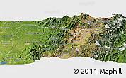 Satellite Panoramic Map of Pichincha