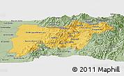 Savanna Style Panoramic Map of Pichincha