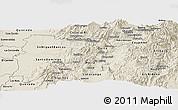 Shaded Relief Panoramic Map of Pichincha