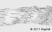 Silver Style Panoramic Map of Pichincha