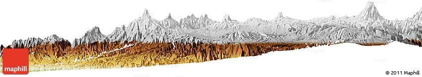 Physical Horizon Map of Quito