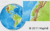 Physical Location Map of Quito