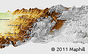 Physical Panoramic Map of Quito