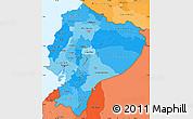 Political Shades Simple Map of Ecuador