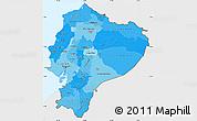 Political Shades Simple Map of Ecuador, single color outside