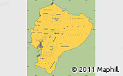 Savanna Style Simple Map of Ecuador, cropped outside