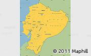 Savanna Style Simple Map of Ecuador, single color outside