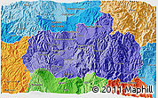 Political Shades 3D Map of Tungurahua