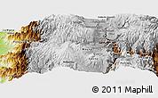 Physical Panoramic Map of Ambato