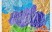 Political Shades Map of Tungurahua