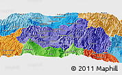 Political Shades Panoramic Map of Tungurahua