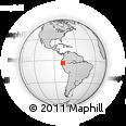 Outline Map of El Pangui