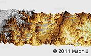 Physical Panoramic Map of El Pangui