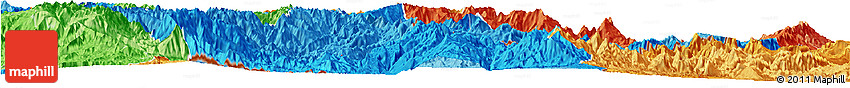 Political Shades Horizon Map of Zamora Chinchipe
