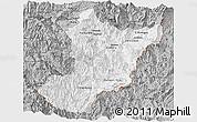 Gray Panoramic Map of Zamora Chinchipe