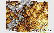 Physical Panoramic Map of Zamora Chinchipe
