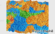 Political Panoramic Map of Zamora Chinchipe