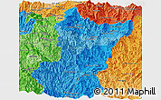 Political Shades Panoramic Map of Zamora Chinchipe