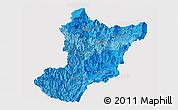 Political Shades Panoramic Map of Zamora Chinchipe, single color outside