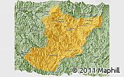Savanna Style Panoramic Map of Zamora Chinchipe