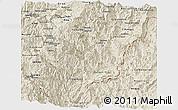 Shaded Relief Panoramic Map of Zamora Chinchipe