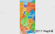 Political Shades 3D Map of Zona No Delimtda