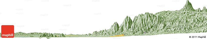 Savanna Style Horizon Map of Zona No Delimtda