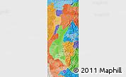Political Shades Map of Zona No Delimtda