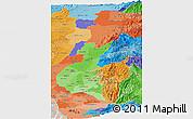 Political Shades Panoramic Map of Zona No Delimtda