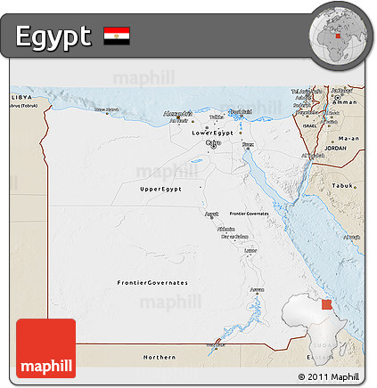 Free Classic Style D Map Of Egypt - Map of egypt 3d