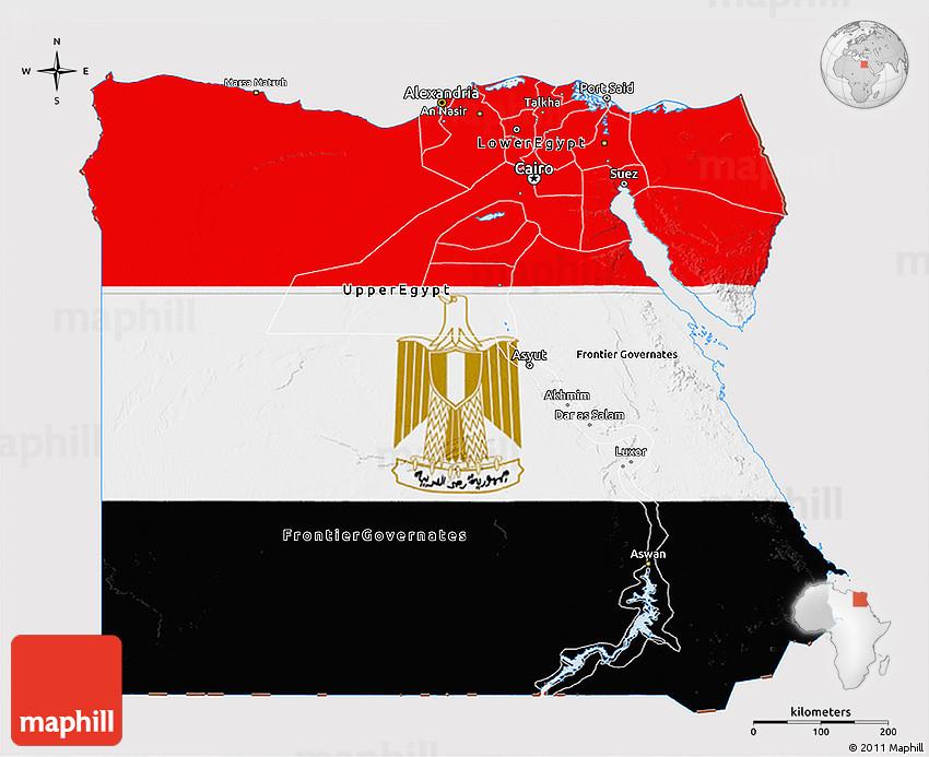 Flag D Map Of Egypt - Map of egypt 3d