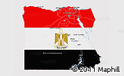 Flag 3D Map of Egypt