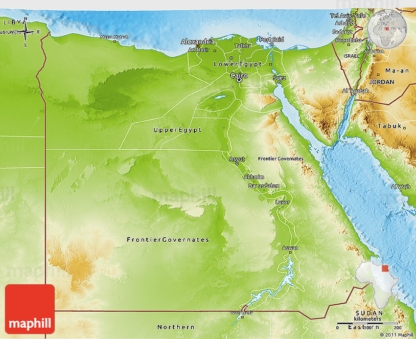 Physical D Map Of Egypt - Map of egypt picture