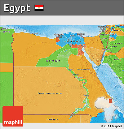 Free Political D Map Of Egypt - Map of egypt 3d