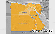 Political Shades 3D Map of Egypt, desaturated
