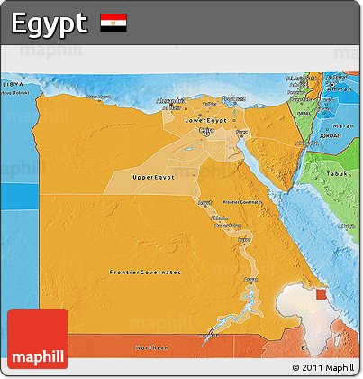 Free Political Shades D Map Of Egypt - Map of egypt 3d