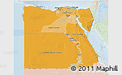 Political Shades 3D Map of Egypt, lighten